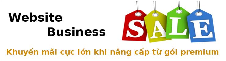Khuyến mãi cực lớn khi nâng cấp lên website Business từ gói Premium